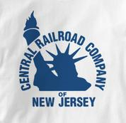 New Jersey Central T Shirt Vintage Logo WHITE Railroad T Shirt Train T Shirt Vintage Logo T Shirt