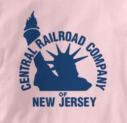 New Jersey Central T Shirt Vintage Logo PINK Railroad T Shirt Train T Shirt Vintage Logo T Shirt