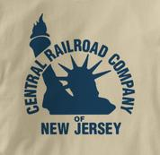 New Jersey Central T Shirt Vintage Logo TAN Railroad T Shirt Train T Shirt Vintage Logo T Shirt