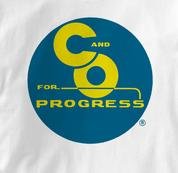 Chesapeake & Ohio Railway T Shirt Progress WHITE Railroad T Shirt Train T Shirt B&O Museum T Shirt Progress T Shirt