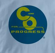 Chesapeake & Ohio Railway T Shirt Progress BLUE Railroad T Shirt Train T Shirt B&O Museum T Shirt Progress T Shirt