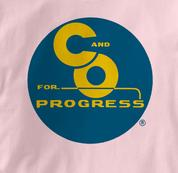 Chesapeake & Ohio Railway T Shirt Progress PINK Railroad T Shirt Train T Shirt B&O Museum T Shirt Progress T Shirt