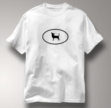 Chihuahua T Shirt Oval Profile WHITE Dog T Shirt Oval Profile T Shirt