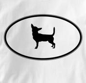 Chihuahua T Shirt Oval Profile WHITE Dog T Shirt Oval Profile T Shirt