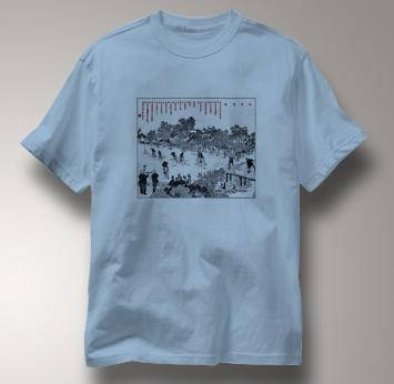 Bicycle T Shirt Chinese High Wheel Race 1889 BLUE Cycling T Shirt Chinese High Wheel Race 1889 T Shirt