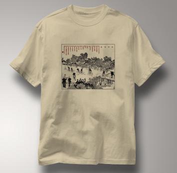 Bicycle T Shirt Chinese High Wheel Race 1889 TAN Cycling T Shirt Chinese High Wheel Race 1889 T Shirt
