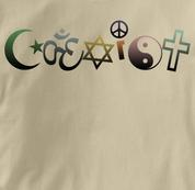 Coexist T Shirt Aum Peace Antiwar Religion Tolerance TAN Peace T Shirt Aum Peace Antiwar Religion Tolerance T Shirt