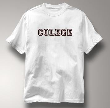 Colege T Shirt WHITE Peace T Shirt