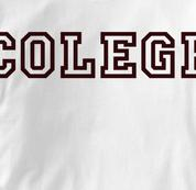 Colege T Shirt WHITE Peace T Shirt