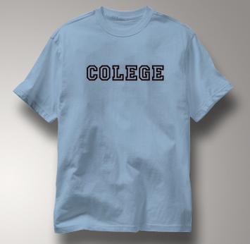Colege T Shirt BLUE Peace T Shirt