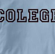 Colege T Shirt BLUE Peace T Shirt