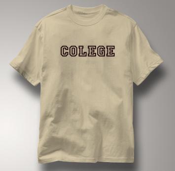 Colege T Shirt TAN Peace T Shirt