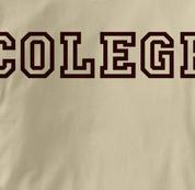 Colege T Shirt TAN Peace T Shirt