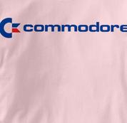 Commodore Computer T Shirt Vintage Logo PINK Vintage Logo T Shirt Geek T Shirt