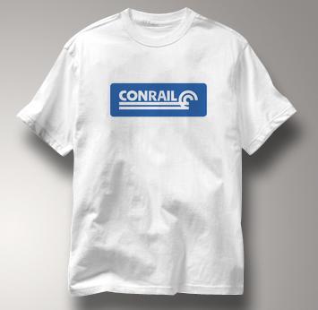 Conrail T Shirt Railway Logo WHITE Railroad T Shirt Train T Shirt Railway Logo T Shirt