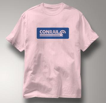 Conrail T Shirt Railway Logo PINK Railroad T Shirt Train T Shirt Railway Logo T Shirt