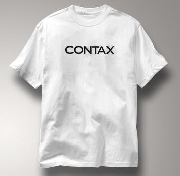 Contax Camera T Shirt Vintage Logo WHITE Vintage Logo T Shirt