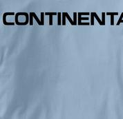 Continental Airlines T Shirt BLUE Aviation T Shirt