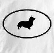Corgi T Shirt Oval Profile WHITE Dog T Shirt Oval Profile T Shirt