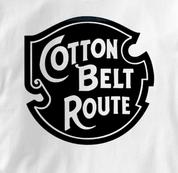 Cotton Belt Route T Shirt Vintage Logo WHITE Railroad T Shirt Train T Shirt Vintage Logo T Shirt
