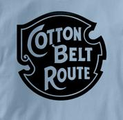 Cotton Belt Route T Shirt Vintage Logo BLUE Railroad T Shirt Train T Shirt Vintage Logo T Shirt
