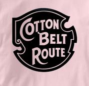 Cotton Belt Route T Shirt Vintage Logo PINK Railroad T Shirt Train T Shirt Vintage Logo T Shirt