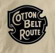 Cotton Belt Route T Shirt Vintage Logo TAN Railroad T Shirt Train T Shirt Vintage Logo T Shirt