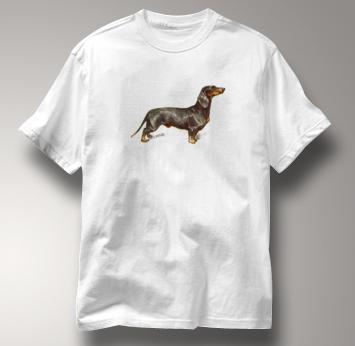 Dachshund T Shirt Vintage Portrait WHITE Dog T Shirt Vintage Portrait T Shirt