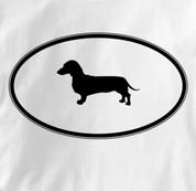 Dachshund T Shirt Oval Profile WHITE Dog T Shirt Oval Profile T Shirt