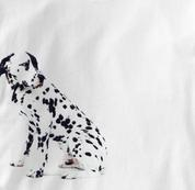 Dalmatian T Shirt Portrait Sitting WHITE Dog T Shirt Portrait Sitting T Shirt