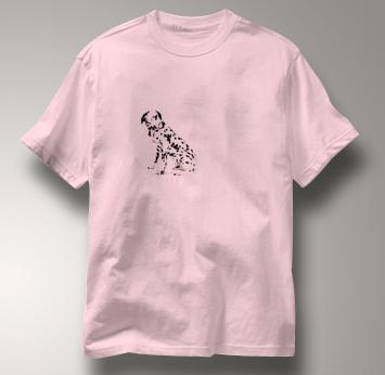 Dalmatian T Shirt Portrait Sitting PINK Dog T Shirt Portrait Sitting T Shirt
