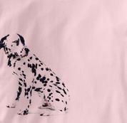 Dalmatian T Shirt Portrait Sitting PINK Dog T Shirt Portrait Sitting T Shirt