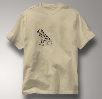 Dalmatian T Shirt Portrait Sitting TAN Dog T Shirt Portrait Sitting T Shirt