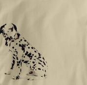 Dalmatian T Shirt Portrait Sitting TAN Dog T Shirt Portrait Sitting T Shirt