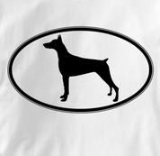 Doberman T Shirt Oval Profile WHITE Dog T Shirt Oval Profile T Shirt