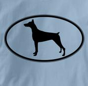 Doberman T Shirt Oval Profile BLUE Dog T Shirt Oval Profile T Shirt