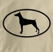 Doberman T Shirt Oval Profile TAN Dog T Shirt Oval Profile T Shirt