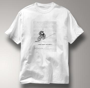 Bicycle T Shirt Duchamp WHITE Cycling T Shirt Marcel Duchamp T Shirt
