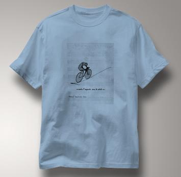 Bicycle T Shirt Duchamp BLUE Cycling T Shirt Marcel Duchamp T Shirt