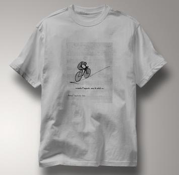 Bicycle T Shirt Duchamp GRAY Cycling T Shirt Marcel Duchamp T Shirt