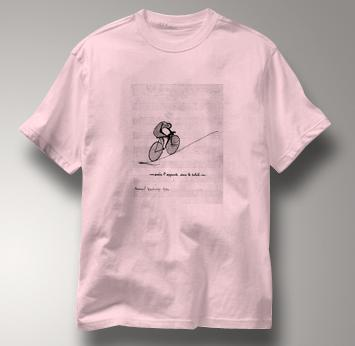 Bicycle T Shirt Duchamp PINK Cycling T Shirt Marcel Duchamp T Shirt