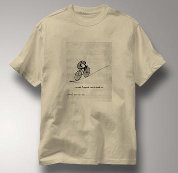 Bicycle T Shirt Duchamp TAN Cycling T Shirt Marcel Duchamp T Shirt