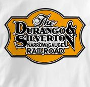 Durango & Silverton T Shirt Narrow Gauge WHITE Railroad T Shirt Train T Shirt Narrow Gauge T Shirt