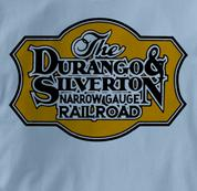 Durango & Silverton T Shirt Narrow Gauge BLUE Railroad T Shirt Train T Shirt Narrow Gauge T Shirt