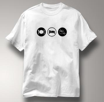 Art T Shirt Eat Sleep Play WHITE Obsession T Shirt Eat Sleep Play T Shirt
