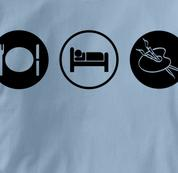 Art T Shirt Eat Sleep Play BLUE Obsession T Shirt Eat Sleep Play T Shirt