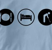 Golf T Shirt Eat Sleep Play BLUE Obsession T Shirt Eat Sleep Play T Shirt