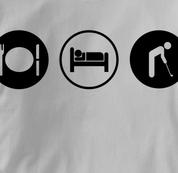 Golf T Shirt Eat Sleep Play GRAY Obsession T Shirt Eat Sleep Play T Shirt