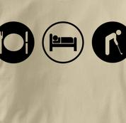 Golf T Shirt Eat Sleep Play TAN Obsession T Shirt Eat Sleep Play T Shirt