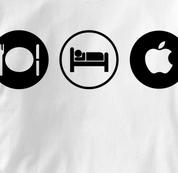 Mac T Shirt Eat Sleep Play WHITE Apple Computer T Shirt Obsession T Shirt Eat Sleep Play T Shirt Geek T Shirt